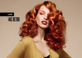 A glamorous warm red hair colour.