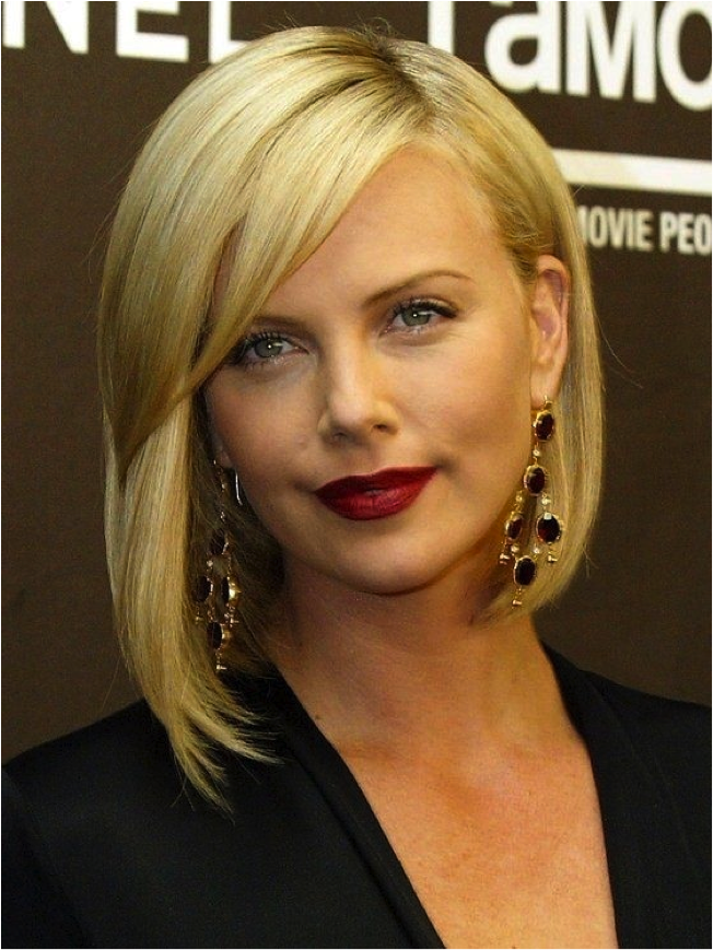 charlize theron long bob lob hair hair trend 2015 blond hair bob cut hot hair 2015